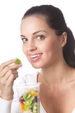 Woman with citrus fruits Royalty Free Stock Photo