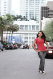 Woman in the city Royalty Free Stock Photos