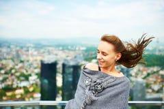 Woman in city Stock Photos