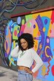 Woman city graffiti Royalty Free Stock Photo