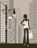 Woman in the city. Stock Image