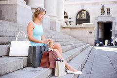 Woman on the city Stock Image