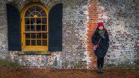 Woman at Civil War Fort royalty free stock images