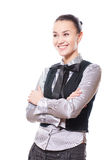 Woman in classic clothes Royalty Free Stock Photos