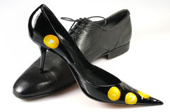 Woman classical shoe Stock Images