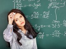 Woman in classroom. Stock Images