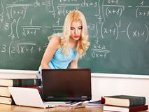 Woman in classroom. Stock Photos