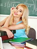 Woman in classroom. Royalty Free Stock Image