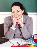 Woman in classroom. Royalty Free Stock Photos