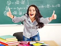 Woman in classroom. Royalty Free Stock Images