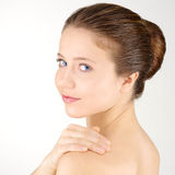 Woman with clean fresh skin Royalty Free Stock Image