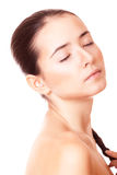 Woman with clean skin and closed eyes Royalty Free Stock Photography