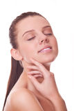 Woman with clean skin face and closed eyes Stock Photos