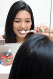 Woman clean teeth Stock Photography