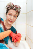 Woman cleaner Royalty Free Stock Image