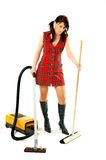 Woman with cleaner Royalty Free Stock Photography