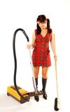 Woman with cleaner Stock Image