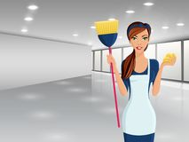 Woman cleaners portrait Royalty Free Stock Photography