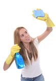 Woman Cleaning Royalty Free Stock Photography