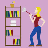 Woman cleaning Royalty Free Stock Images