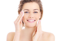 Free Woman Cleaning Face Royalty Free Stock Photography - 38653977