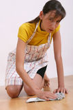 Woman cleaning floor Royalty Free Stock Images
