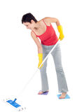 Woman cleaning floor Royalty Free Stock Photography