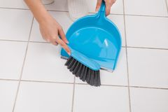 Woman Cleaning Floor Royalty Free Stock Image