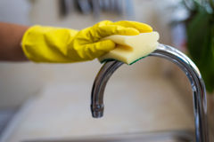 Woman cleaning at home Royalty Free Stock Photos