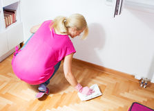 Woman Cleaning Home Royalty Free Stock Photos