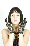 Woman with clear skin. Woman with beautiful clear skin Royalty Free Stock Image