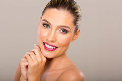 Woman with clear skin Stock Photography