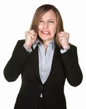 Woman With Clenched FIsts Stock Images