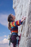 Woman climber Royalty Free Stock Photo