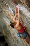 Woman Climber stock photo