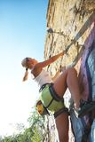 Woman climber Royalty Free Stock Photo