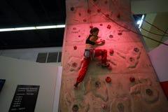 Woman climbing Royalty Free Stock Photos