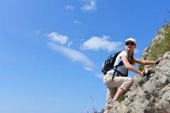Woman in mountain Stock Photo