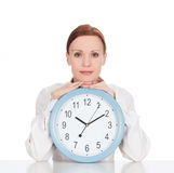 Woman with a clock Royalty Free Stock Photo