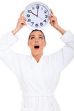 Woman clock head Royalty Free Stock Image