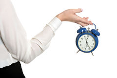Woman with the clock Royalty Free Stock Photos
