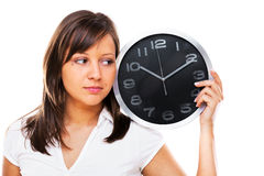 Woman with clock Stock Photography