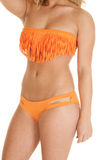 Woman close swim suit fringe Royalty Free Stock Image