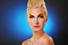 Woman close-up portrait Stock Photo