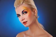 Woman close-up portrait Stock Images