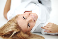 Woman close up portrait Royalty Free Stock Photos
