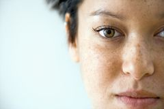 Woman close up portrait Stock Images