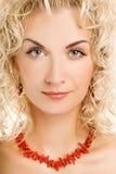 Woman close-up portrait Stock Image