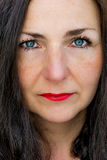 Woman close up portrait Stock Photography