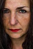 Woman close up portrait Stock Image